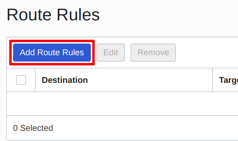 Adding Route Rules