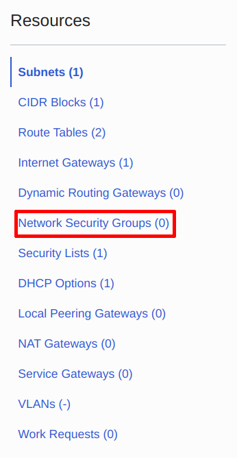 Navigate to Network Security Groups