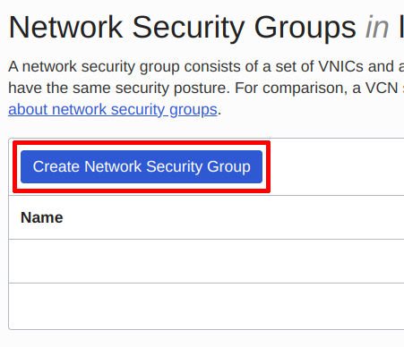 Create Network Security Group